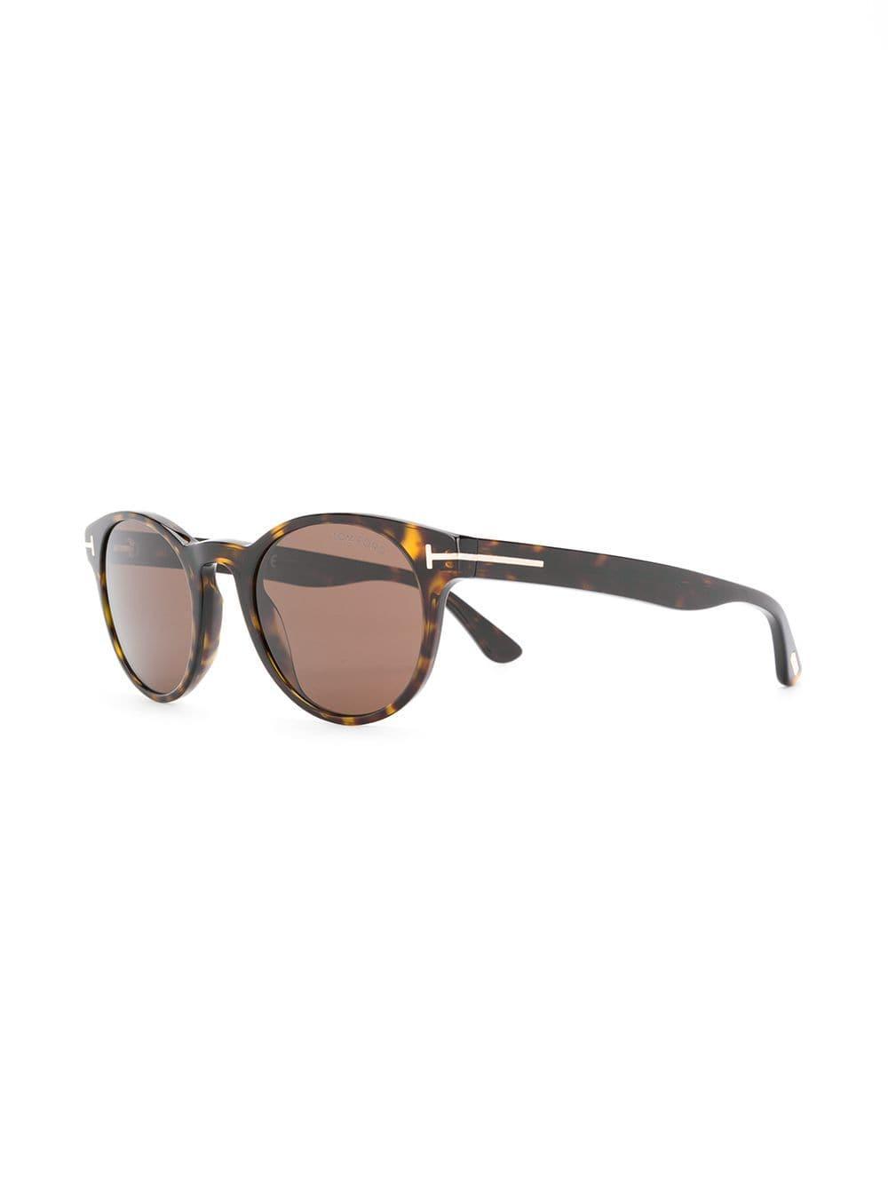 0945c079e34 Tom Ford - Brown Round Frame Glasses - Lyst. View fullscreen