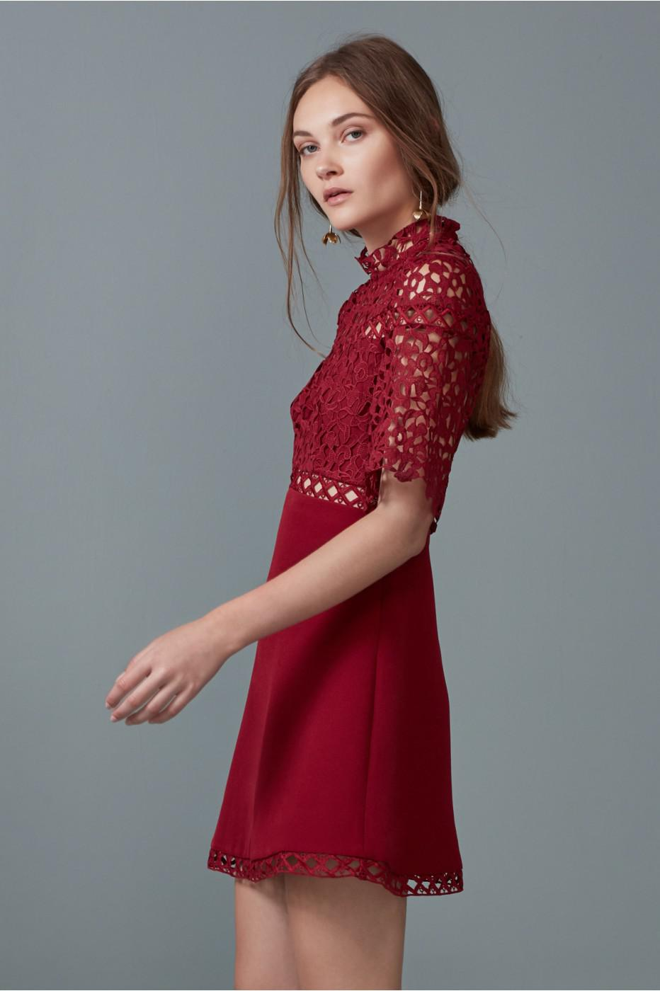 bb63766dc386 Lyst - Keepsake Uplifted Mini Dress in Red