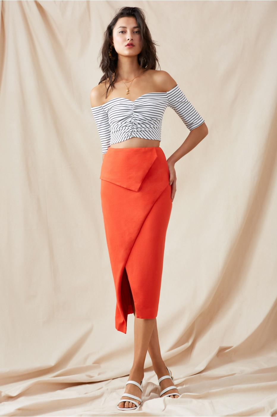 2441ed35ae Lyst - Finders Keepers Nighttide Skirt in Red