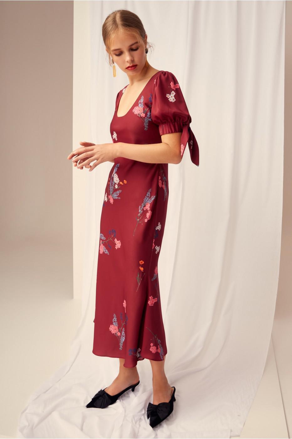 2ec57ebe1764 Lyst - Keepsake Hurricane Slip Dress in Red