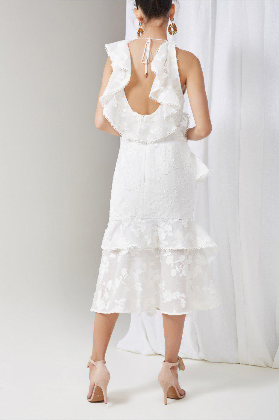 Keepsake Shine Midi Dress In White Lyst