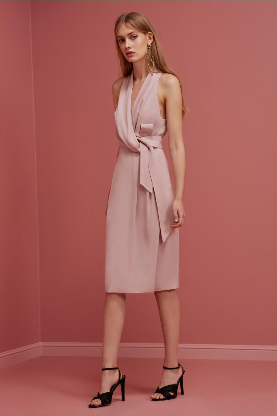 Lyst Keepsake No Limits Midi Dress In Pink