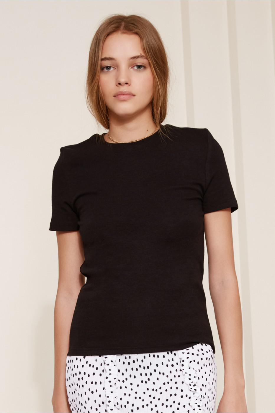 the fifth label lila fitted t shirt in black lyst. Black Bedroom Furniture Sets. Home Design Ideas