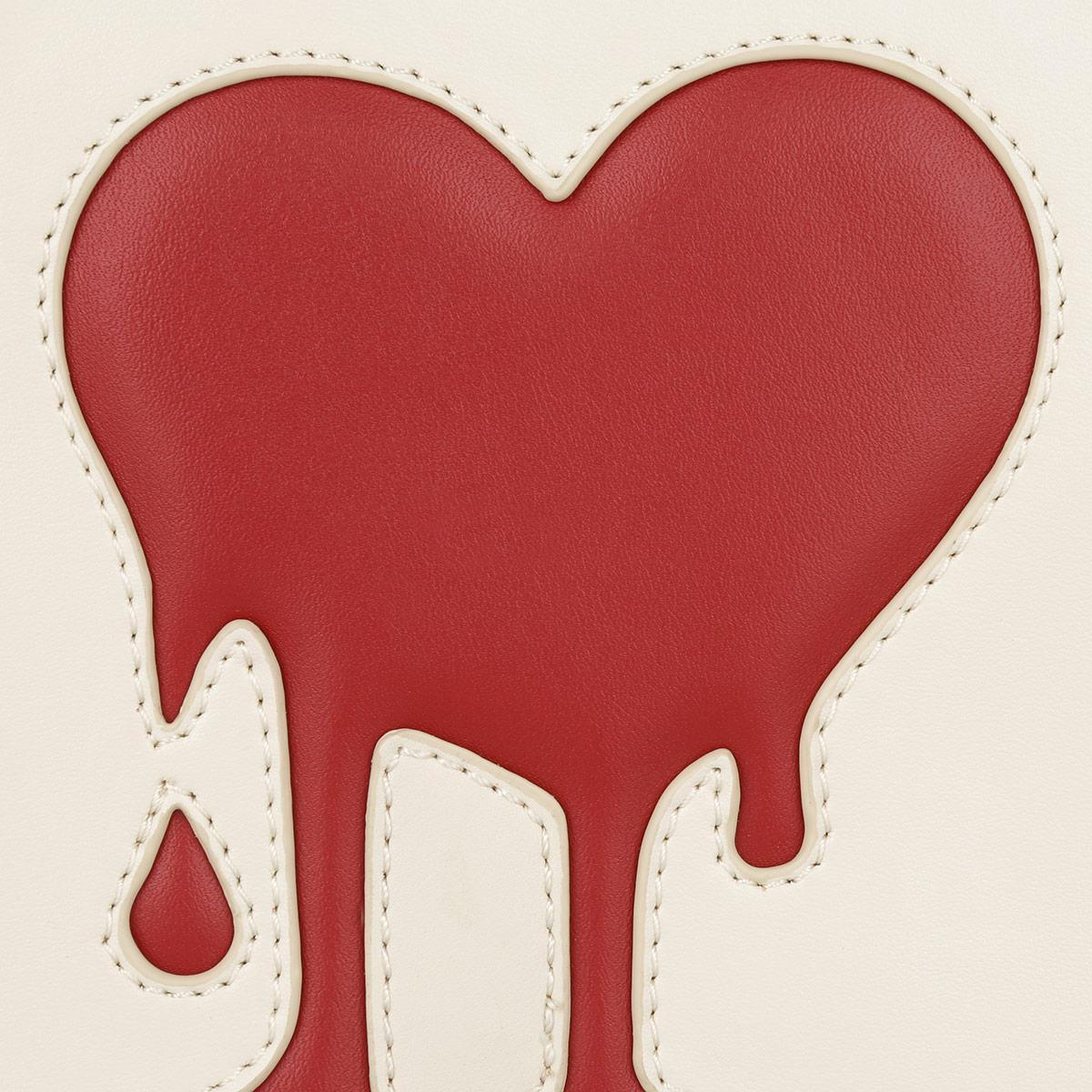 Love Moschino Synthetic Heart Crossbody Calf Pu Avorio/rosso