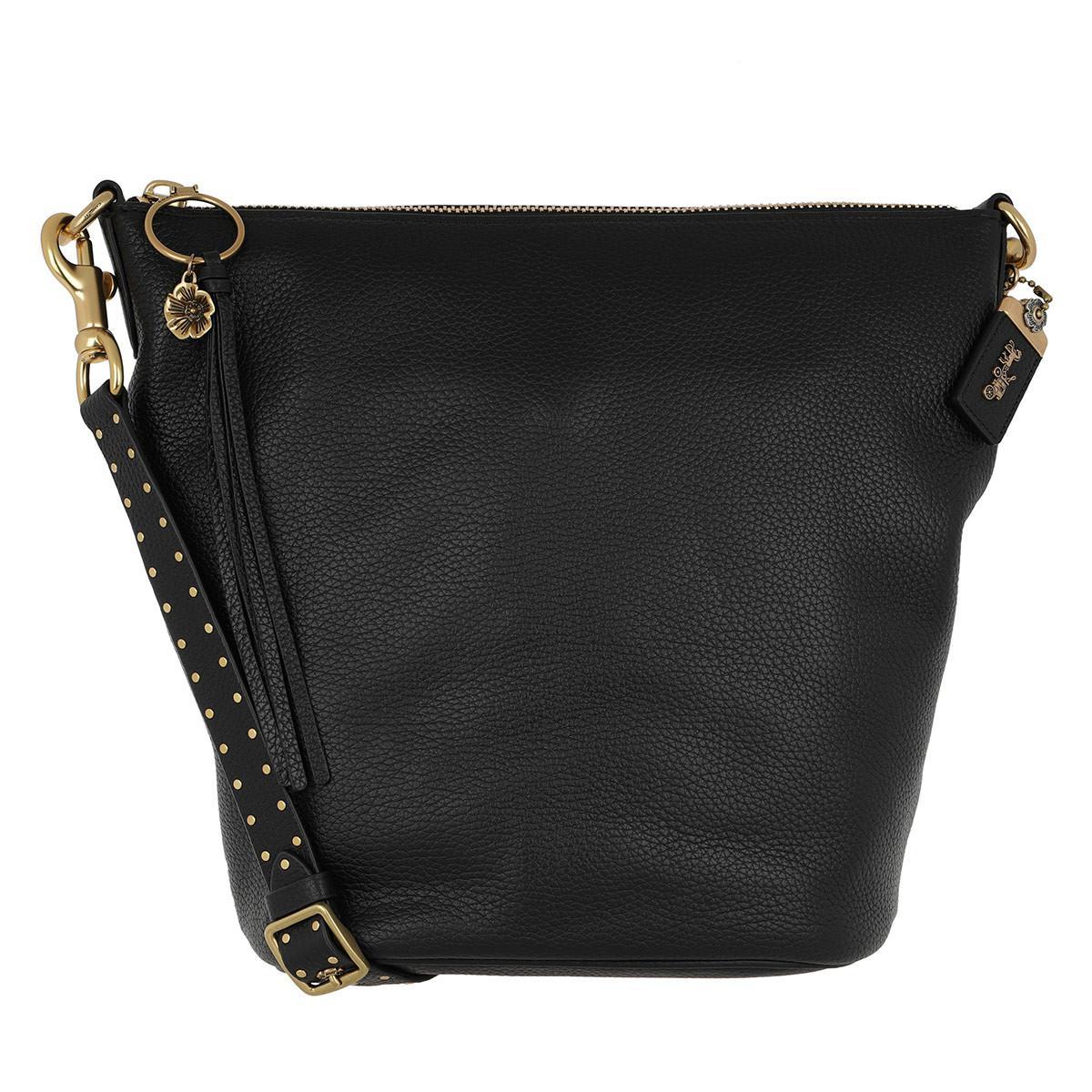 ebbc1cdb4 COACH Border Rivets Duffle Bag Black in Black - Lyst