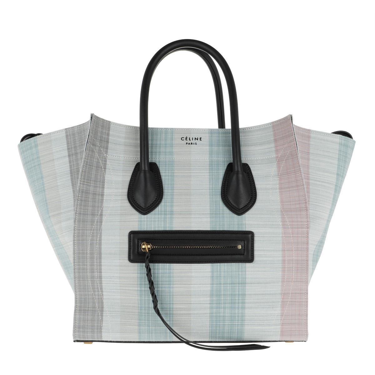 07060cd56e88 Céline Phantom Micro Luggage Bag Leather Blu - Lyst