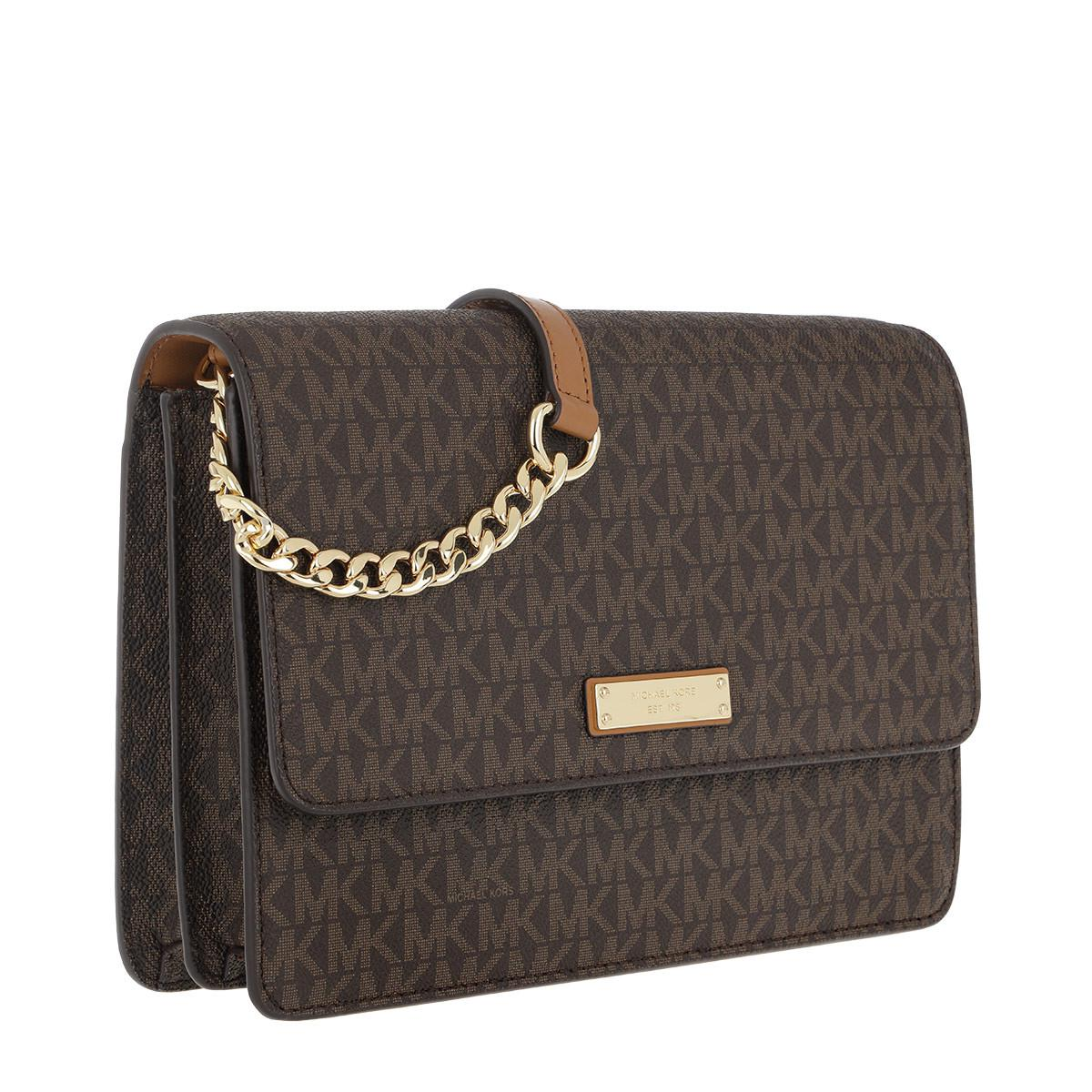 Michael Kors Synthetic Lg Gusset Crossbody Bag Brown
