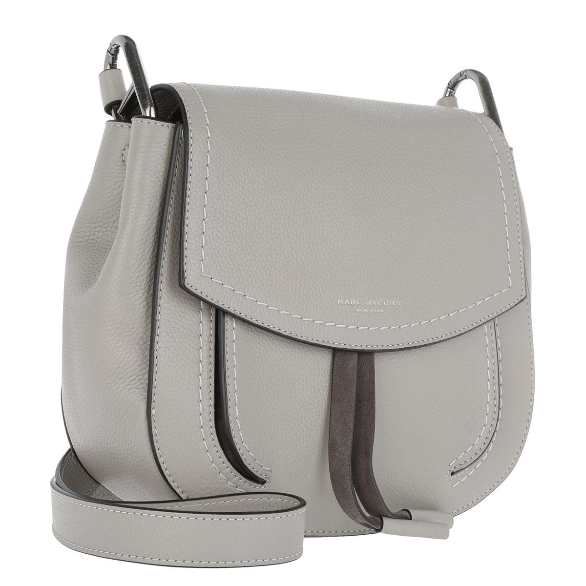 Marc Jacobs Leather Maverick Crossbody Bag Smoke Grey in Grey