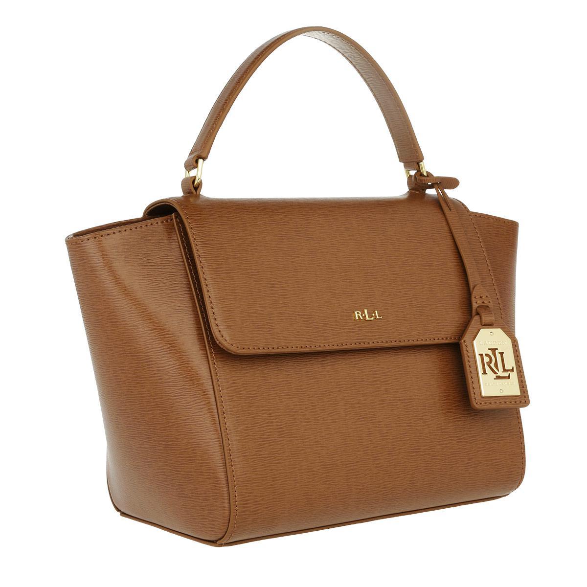 7f7b5c481 Lauren by Ralph Lauren Barclay Leather Crossbody Bag Tan in Brown - Lyst