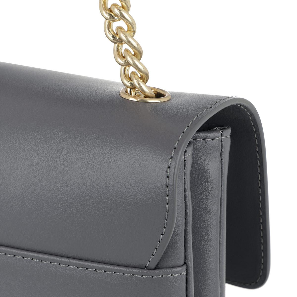 Pinko Leather Big Love Simply Crossbody Bag Grigio in Grey (Grey)