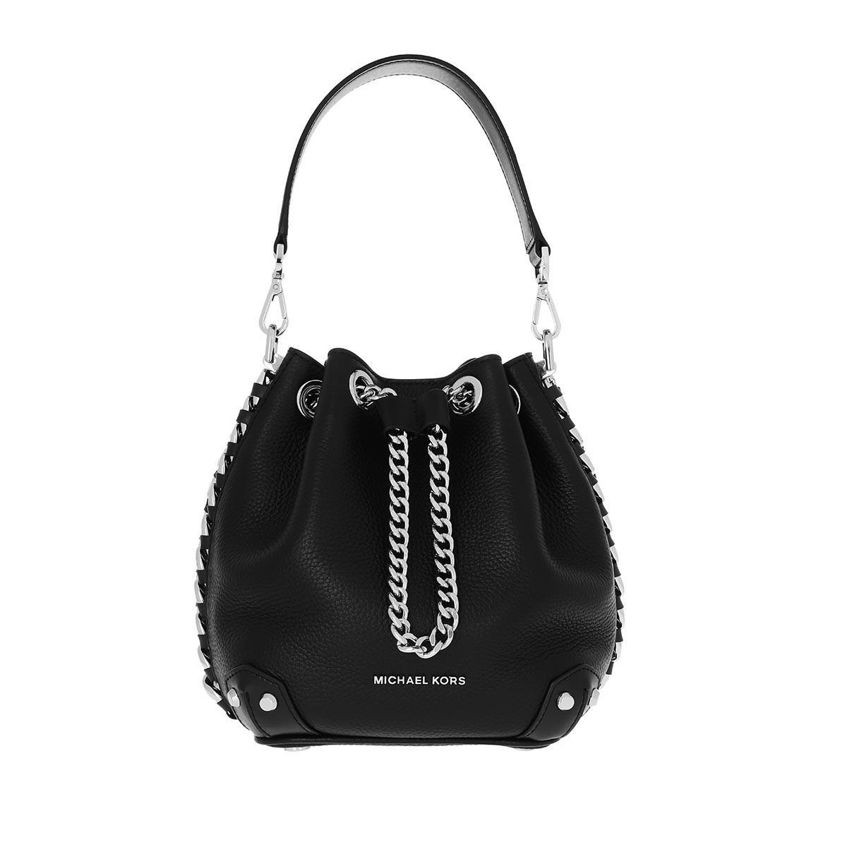 Alanis Small Bucket Bag Black en Cuir Michael Kors