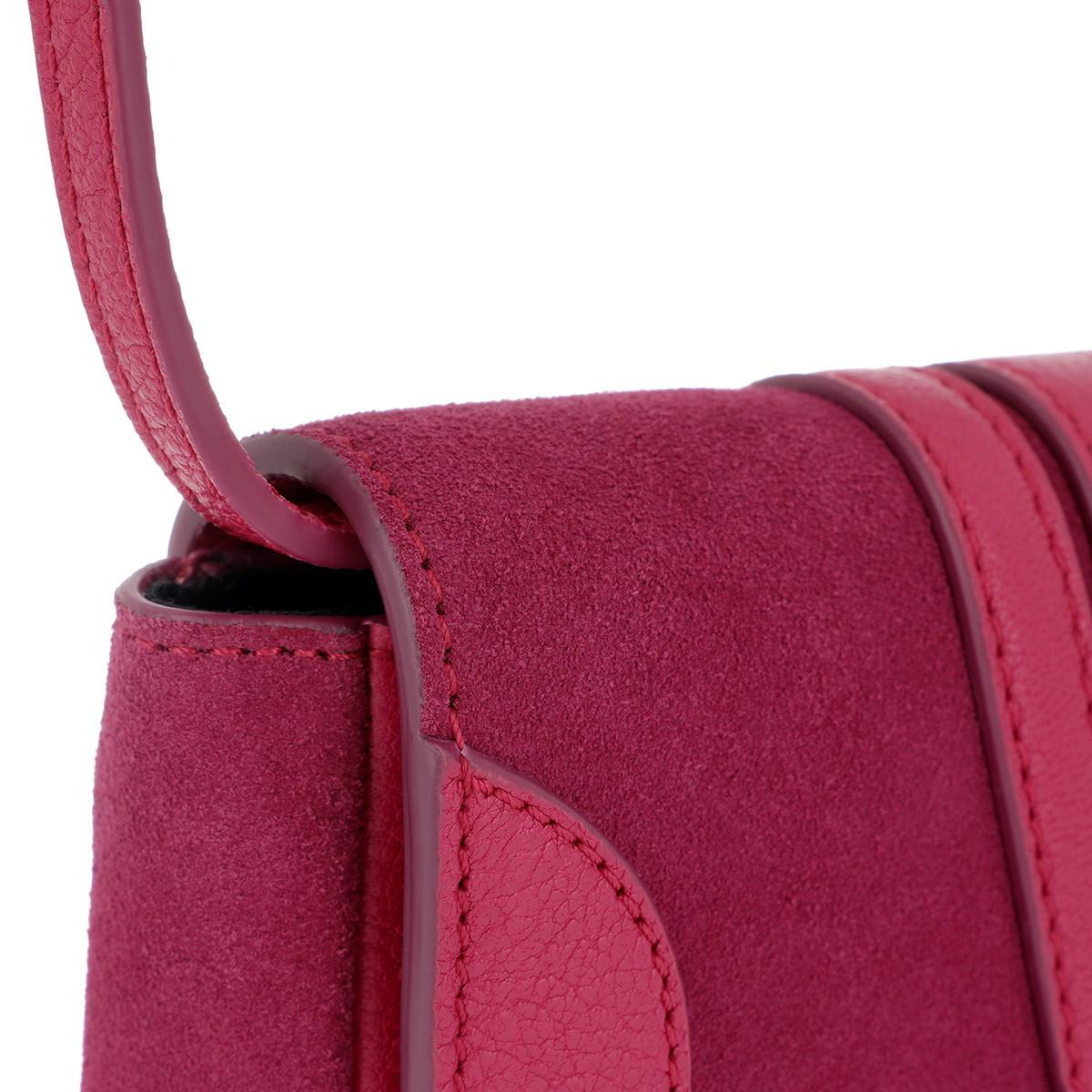 See By Chloé Canvas Hana Mini Crossbody Bag Berry Pink