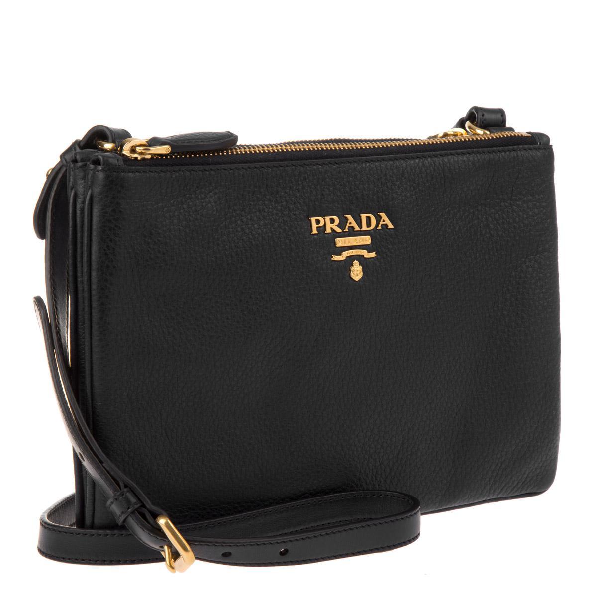 2c8a5a030565 Prada Crossbody Bag Vitello Daino Nero in Black - Lyst
