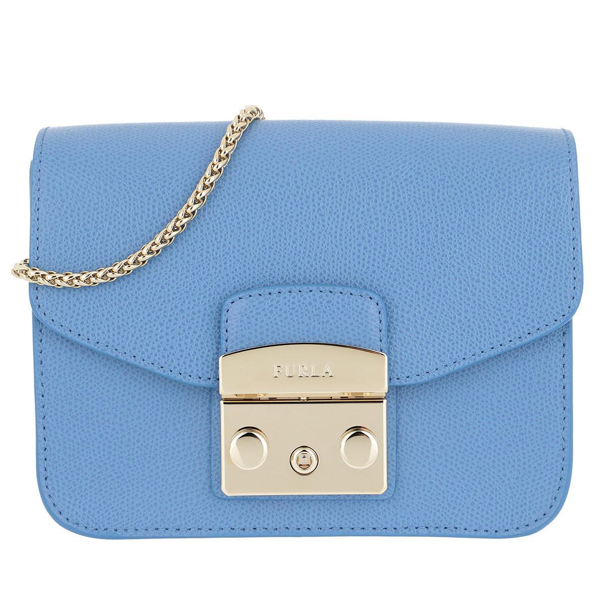 Furla Light blue Metropolis bag in printed leather qQxx6pRqxb