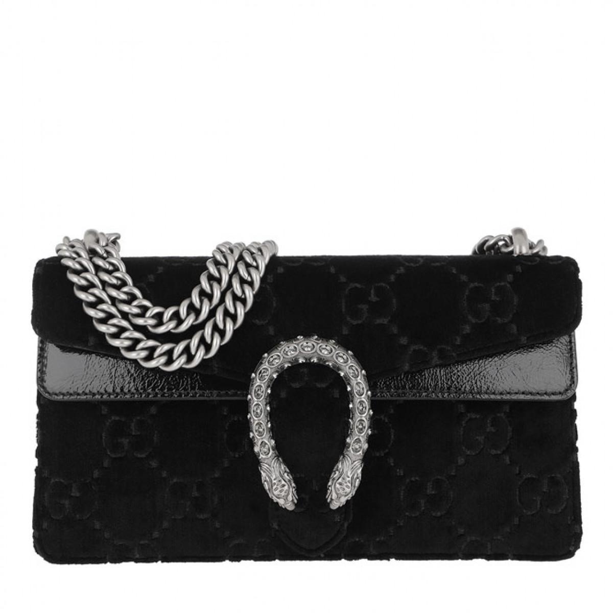 ed8a34d42cd4 Gucci Dionysus Skipper Shoulder Bag Velvet Black in Black - Save 22 ...