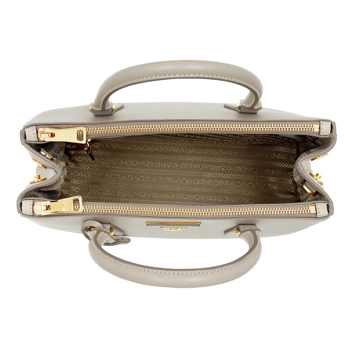 Prada Leather Galleria Tote Bag Pomice