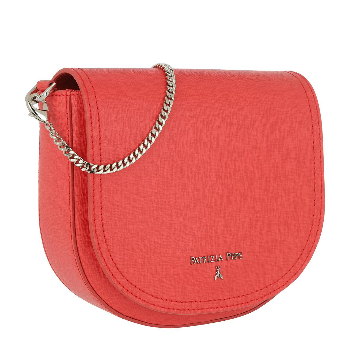 df075b7678 Patrizia Pepe Pepe Saffiano Crossbody Bag Mars Red in Red - Lyst