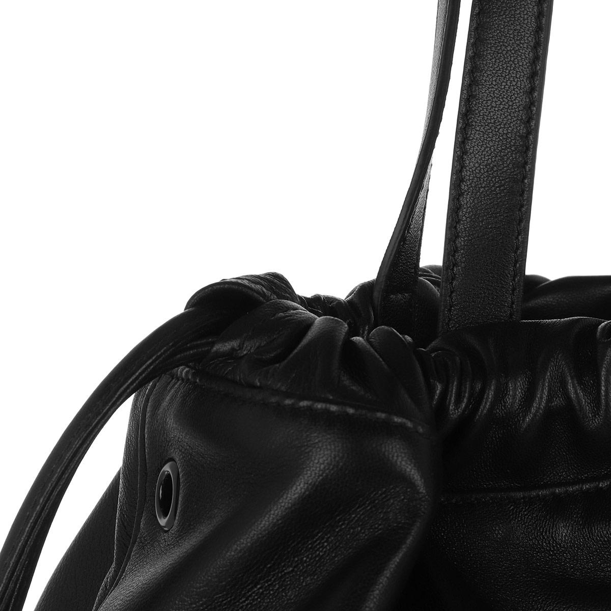 100fbf9f4 Saint Laurent - Harlem Shopping Bag Lambskin Black - Lyst. View fullscreen