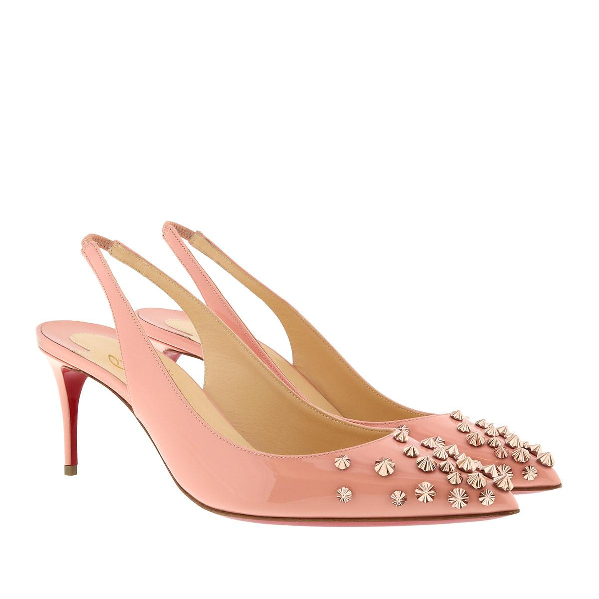 ad870cd6a729 Christian Louboutin. Women s Pink Drama 70 Stud Embellished Patent Leather  Court Shoes