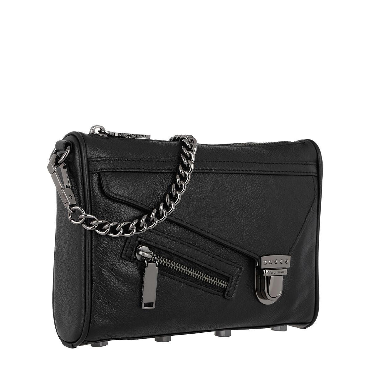 Rebecca Minkoff Leather Jamie Crossbody Black