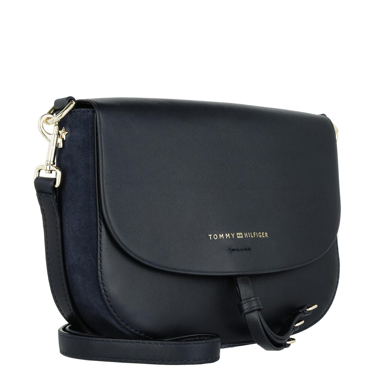 3c589ca2f297 Tommy Hilfiger Effortless Crossover Leather Crossbody Bag Navy in ...