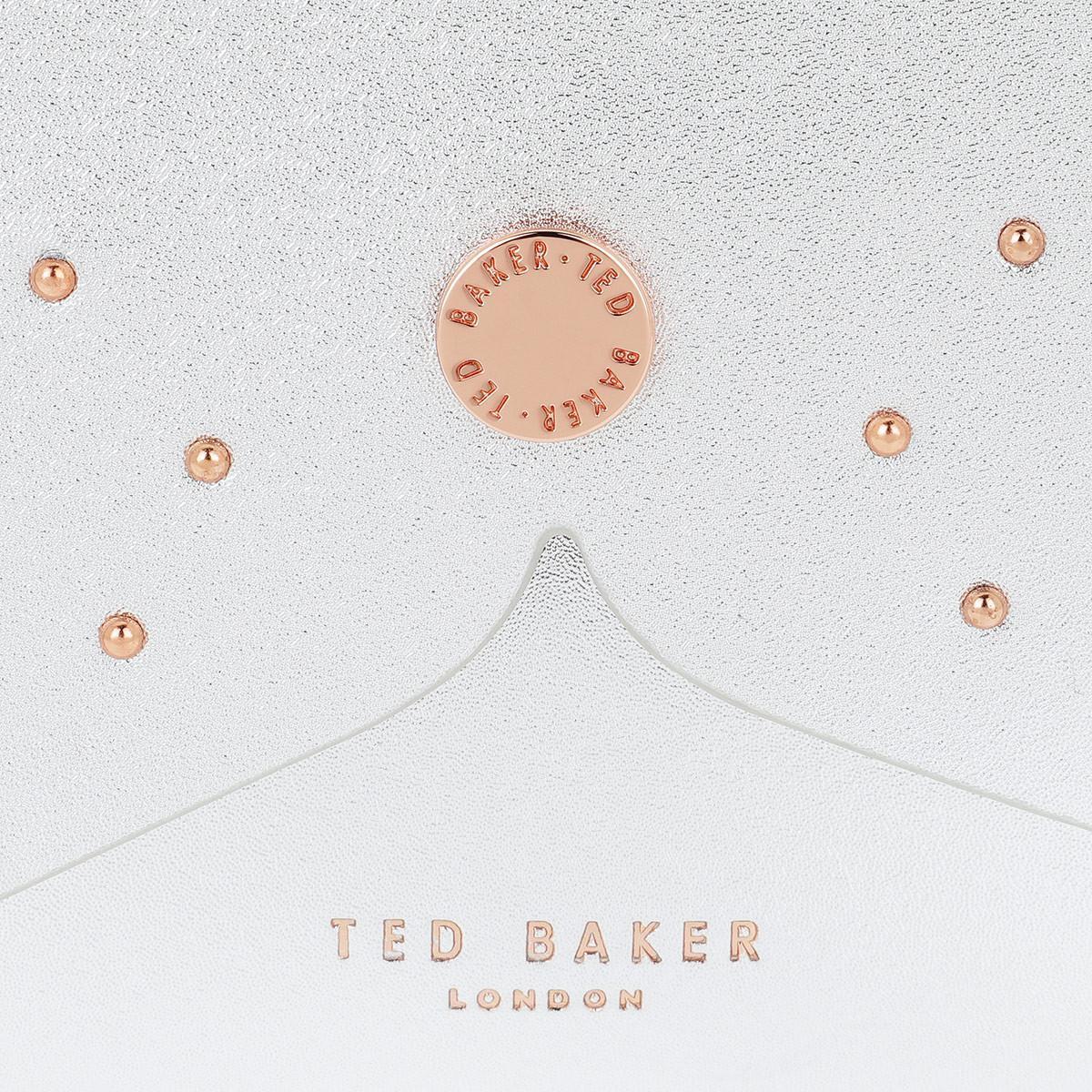 Ted Baker Cotton Barkley Dog Crossbody Bag Silver in Metallic