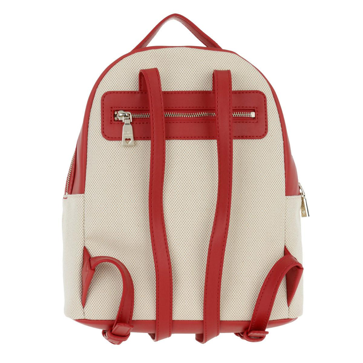Love Moschino Canvas Je T'aime Backpack Rosso in Red