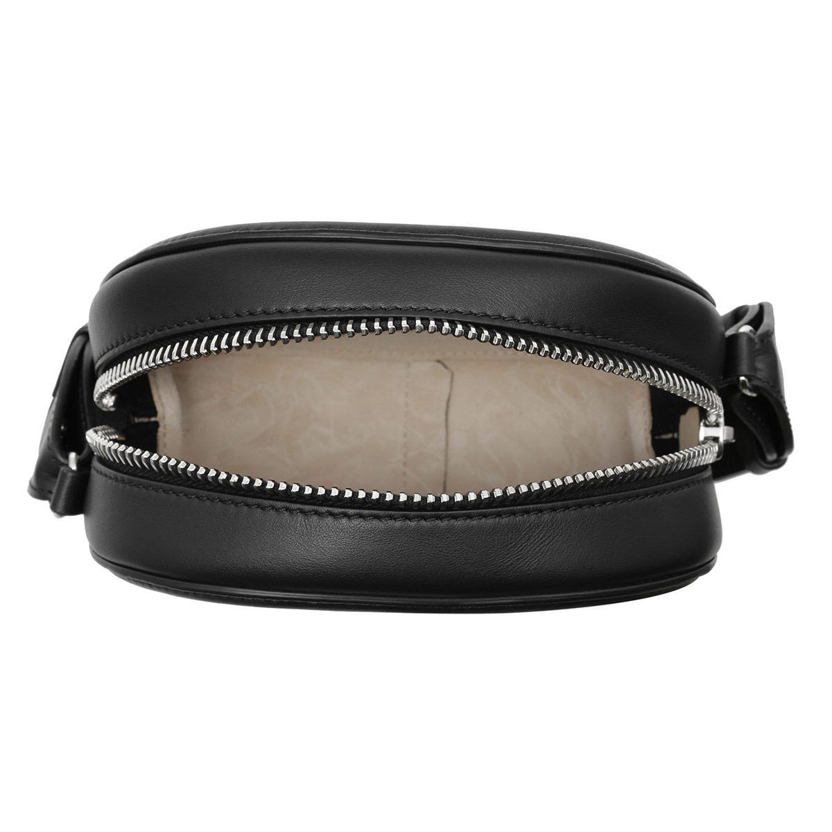 N°21 Leather Bianca Scarpa Knot Crossbody Bag Black