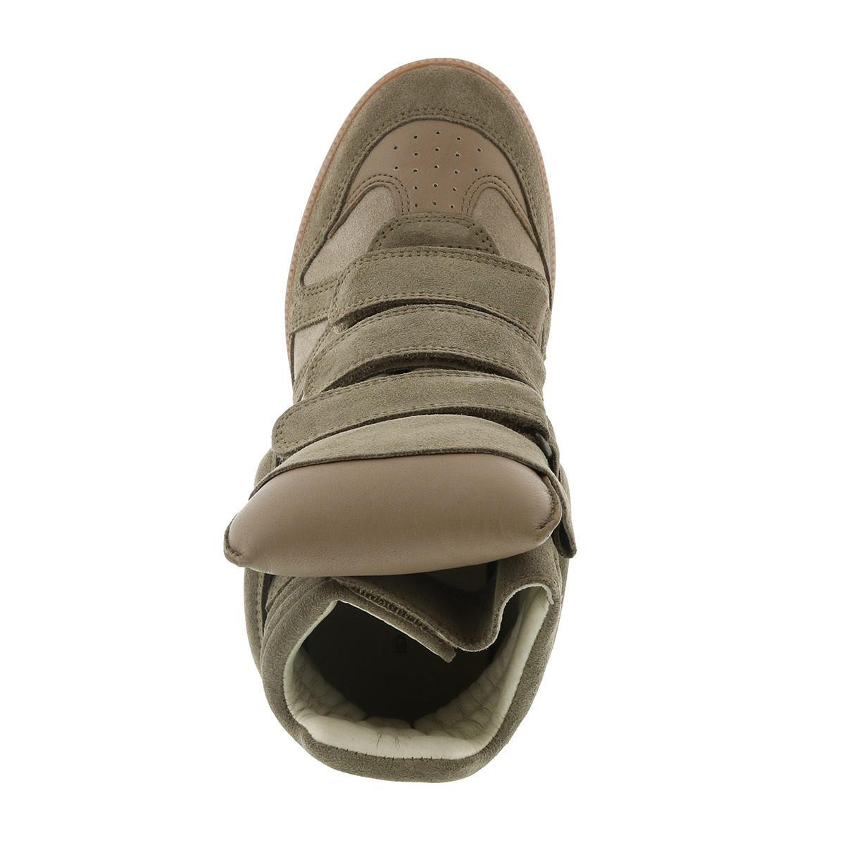 Isabel Marant Bekett Sneakers Suede Taupe in Green