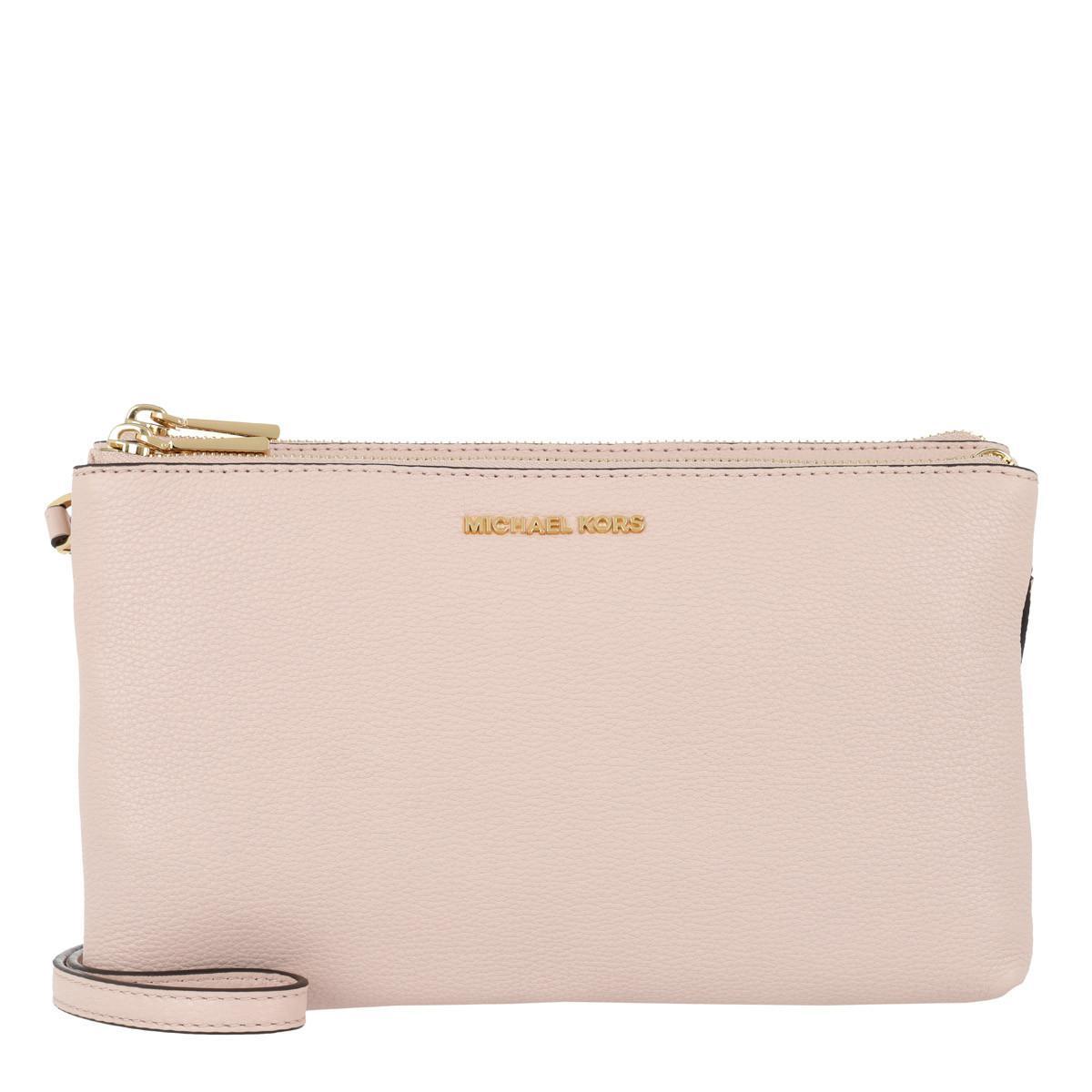 Michael Kors Double Zipper Crossbody Bag Soft Pink in Pink - Lyst 322609f824323
