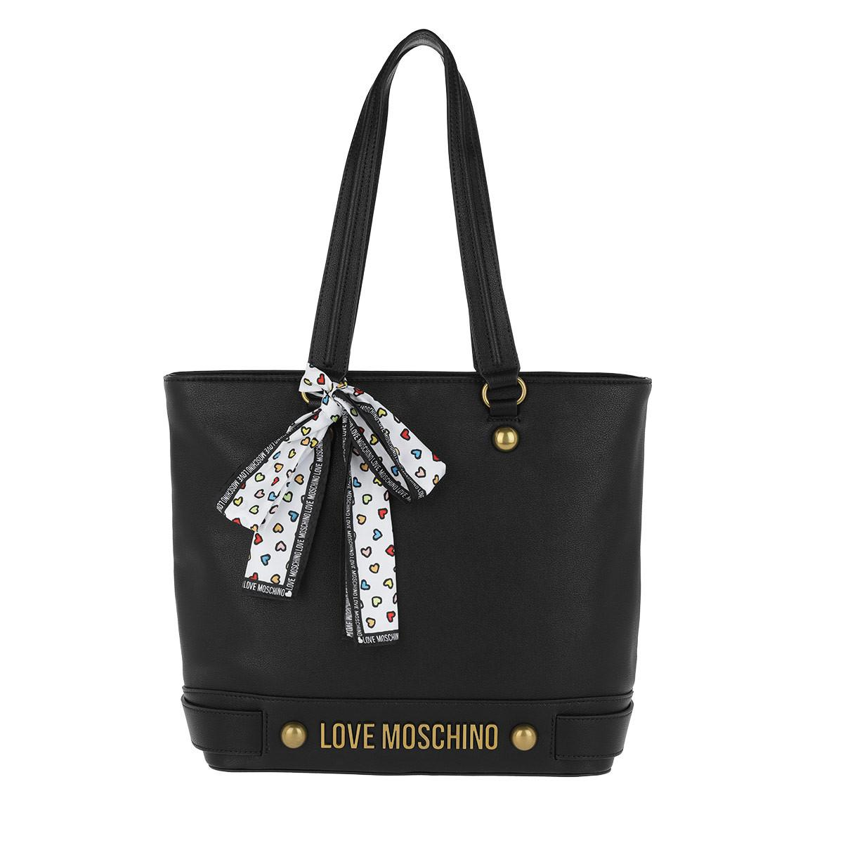 fd5686cef175 Love Moschino Nappa Grain Shopping Bag Scarf Nero in Black - Lyst