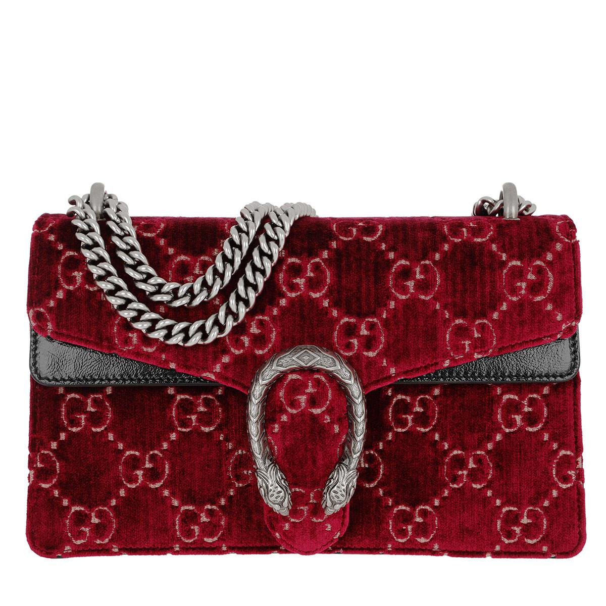 d292c628934b Gucci Dionysus GG Small Shoulder Bag Velvet Red in Red - Lyst