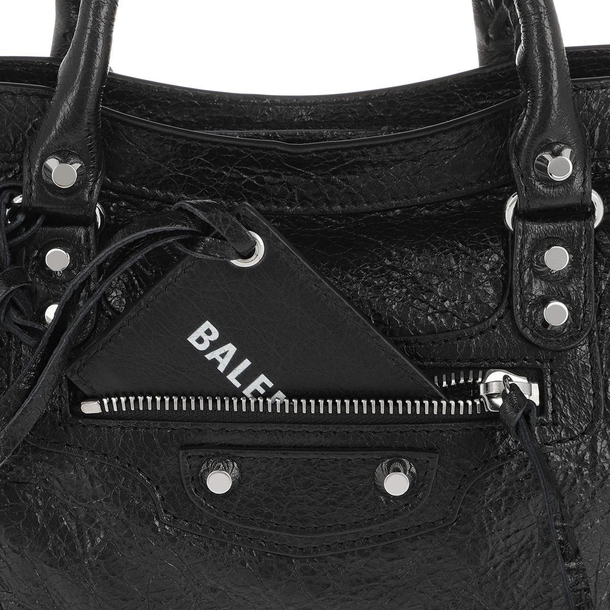 Balenciaga City Classic S Tote Leather Black/white
