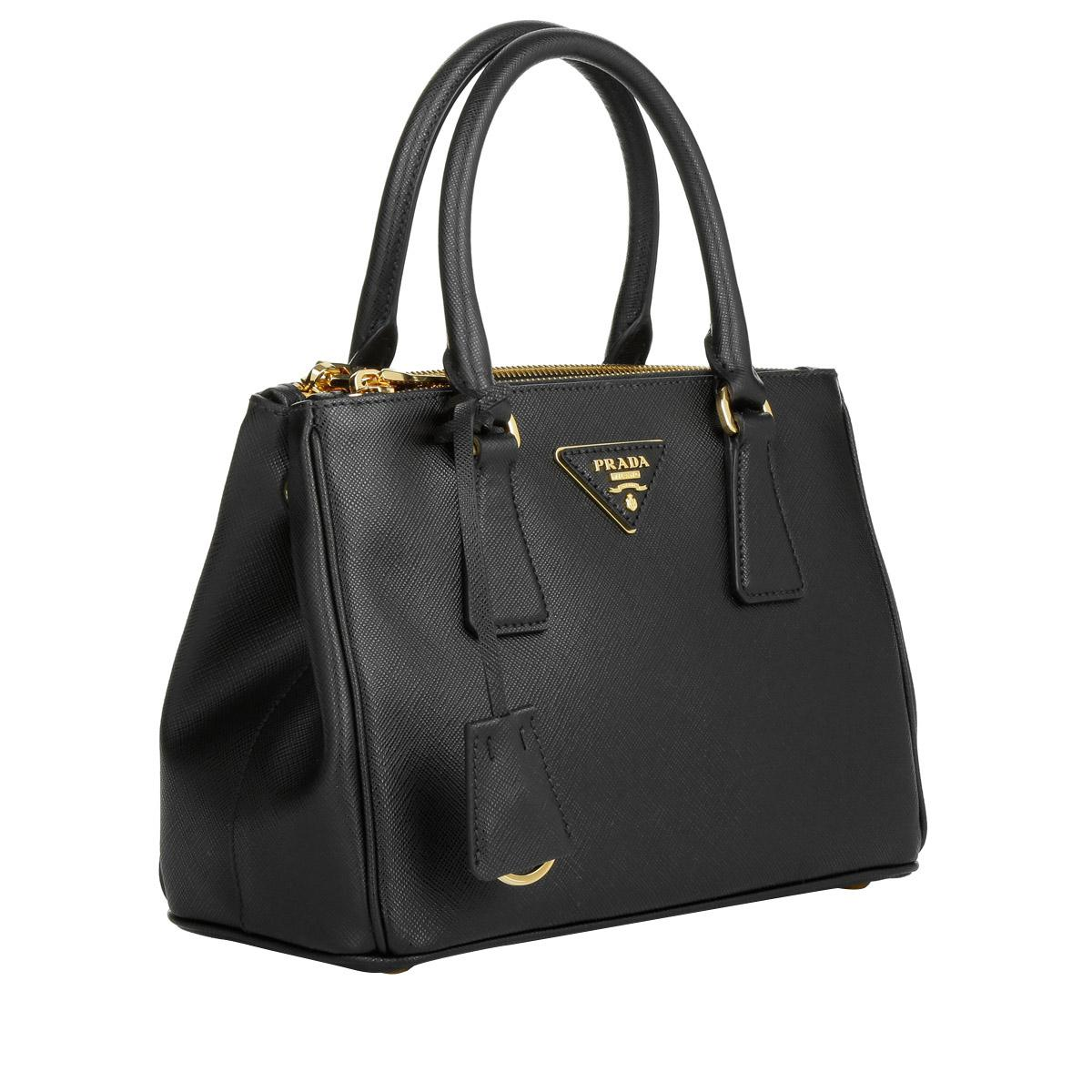 Prada - Black Galleria Tote Bag Saffiano Small Nero. - Lyst. View fullscreen f665b07667334