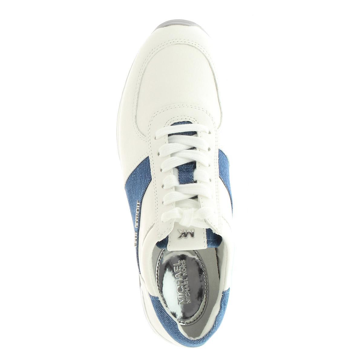 Michael Kors Allie Trainer Sneaker White Denim for Men