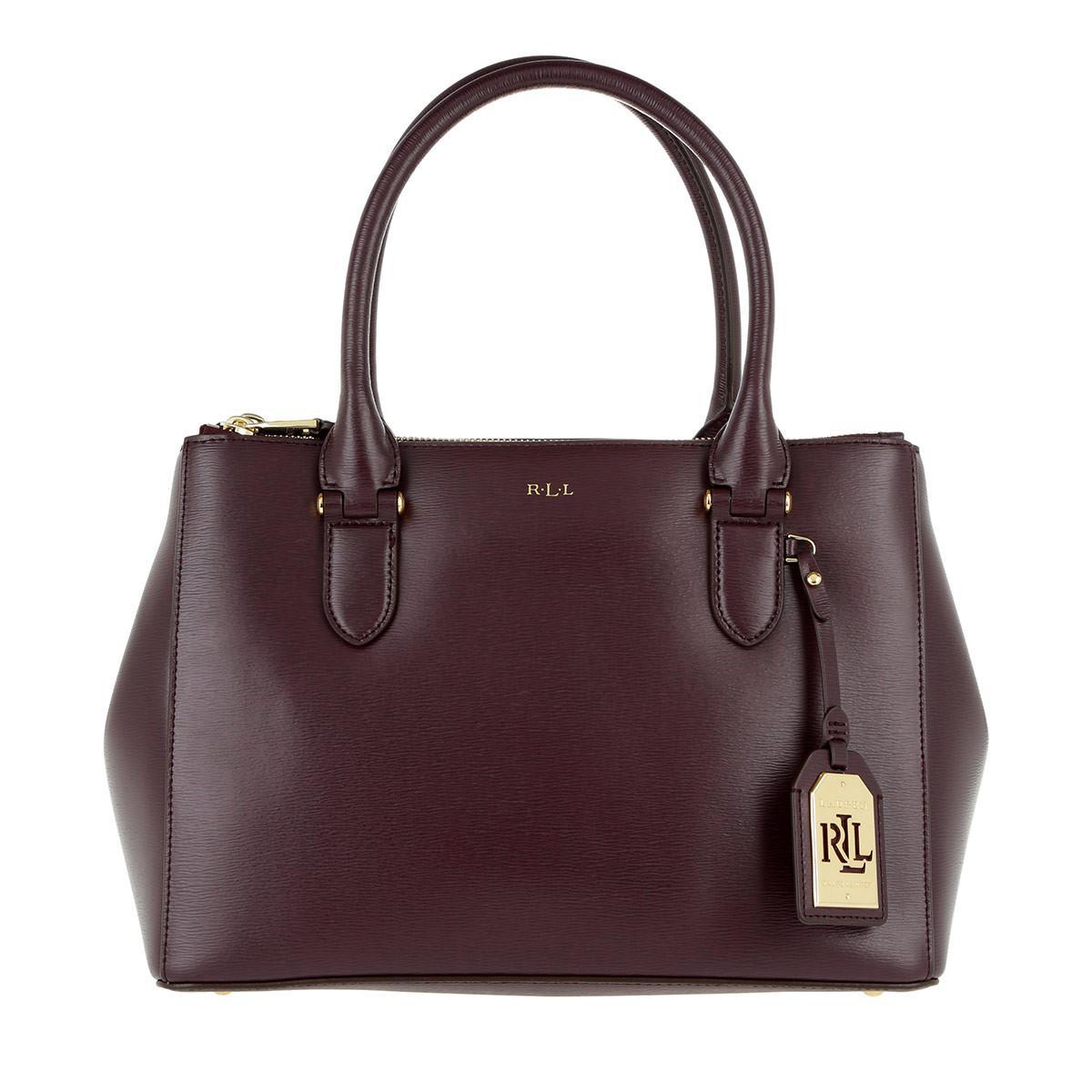 53fd2b07e03 Lauren by Ralph Lauren Newbury Double Zip Shopper Embossed Leather ...
