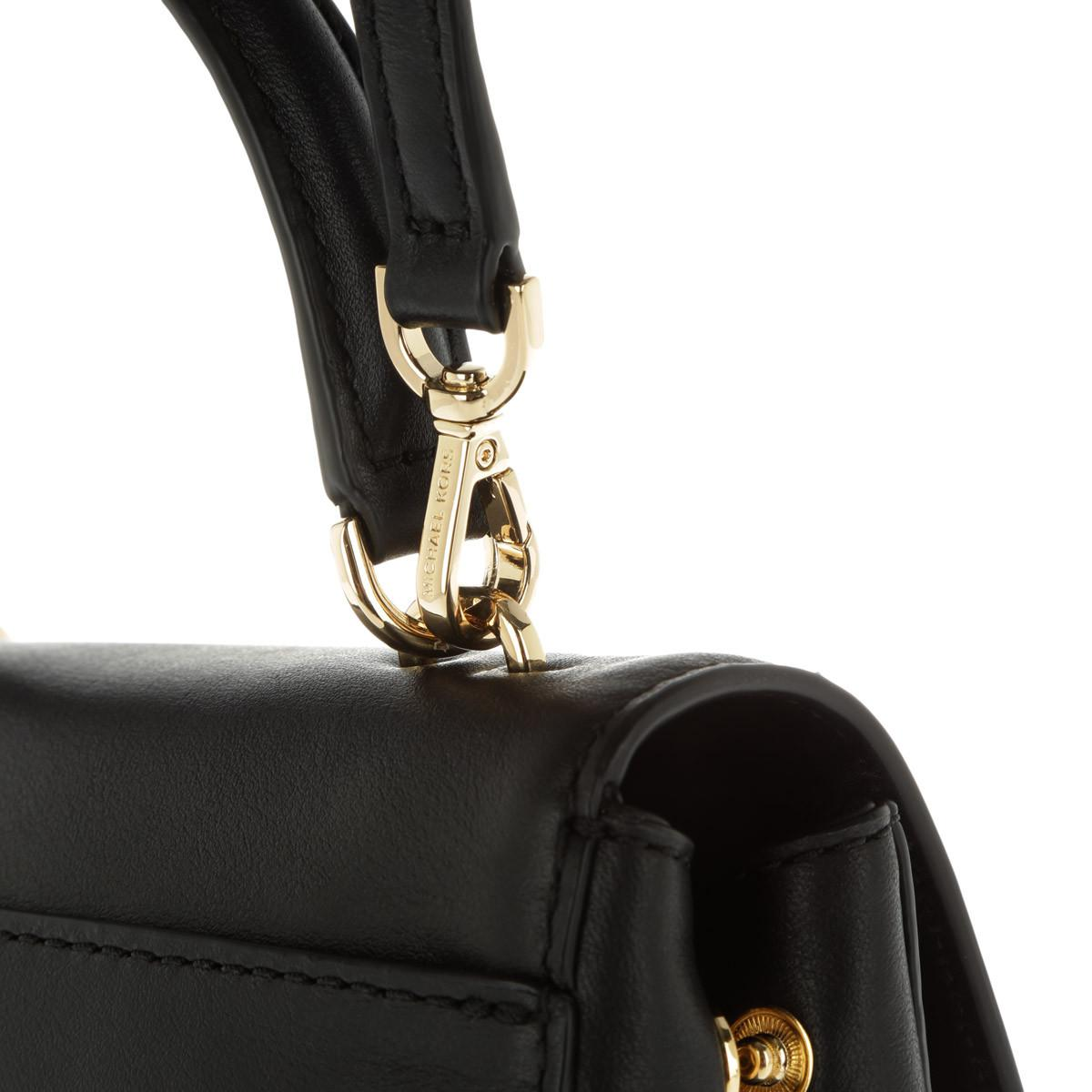 Michael Kors Leather Xs Crossbody Black