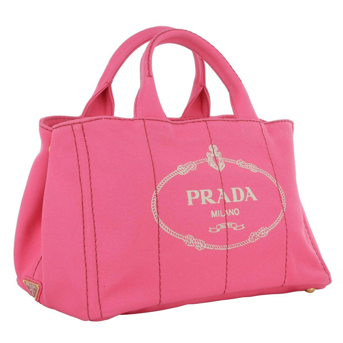 4593023e8888ae Prada Canapa Shopping Bag Peonia - Lyst