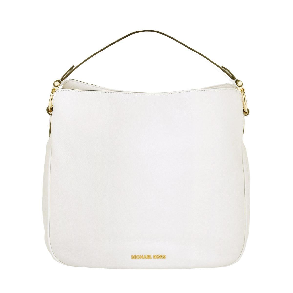 3410540737 Michael Michael Kors Heidi Medium Shoulder Bag Leather Optic White ...
