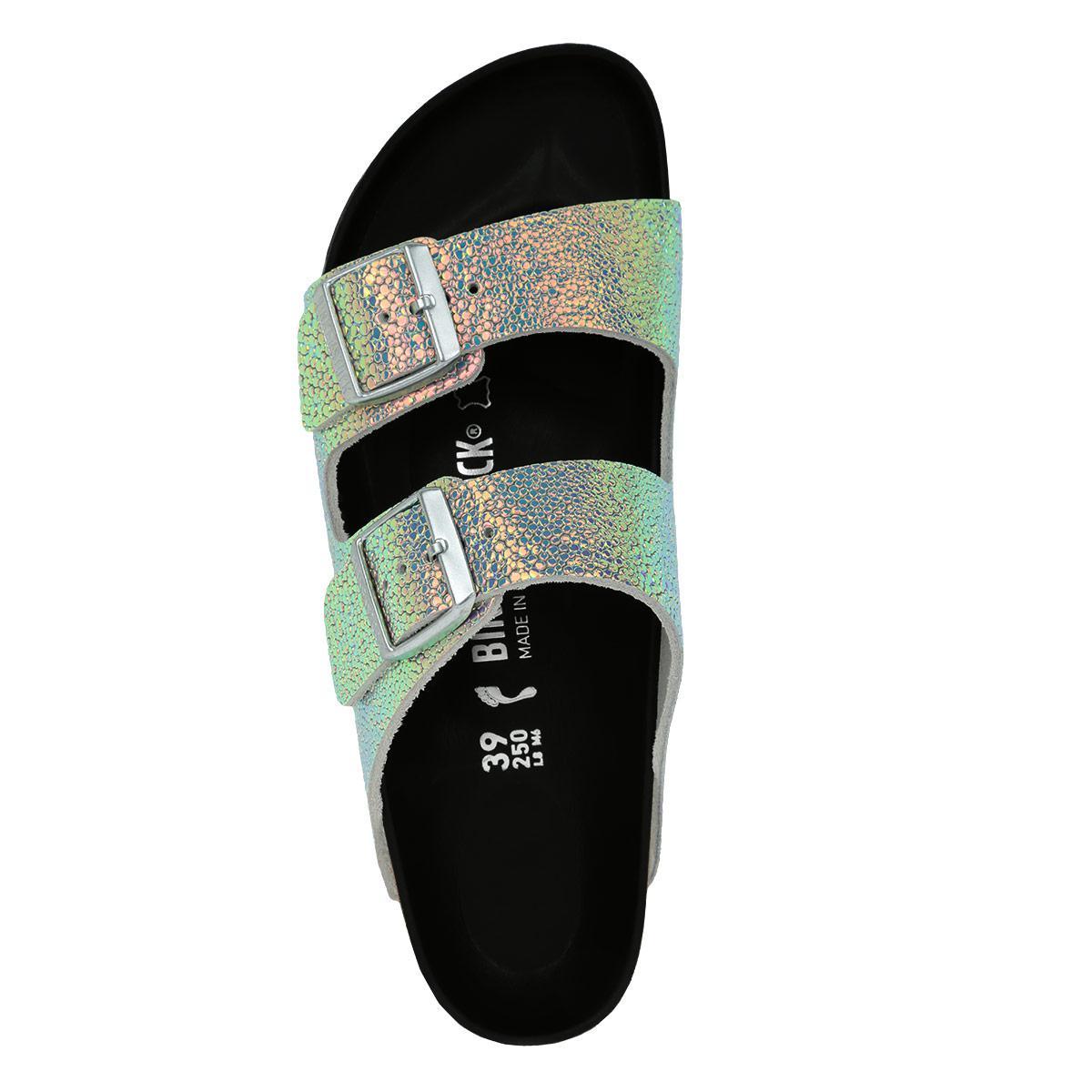 41003b46a19 Birkenstock Arizona Bs Narrow Fit Sandal Ombre Pearls Silver Black ...