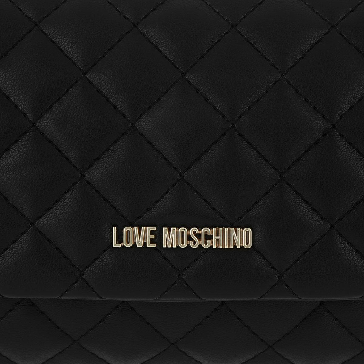 Love Moschino Synthetic Quilted Crossbody Bag Nero in Black