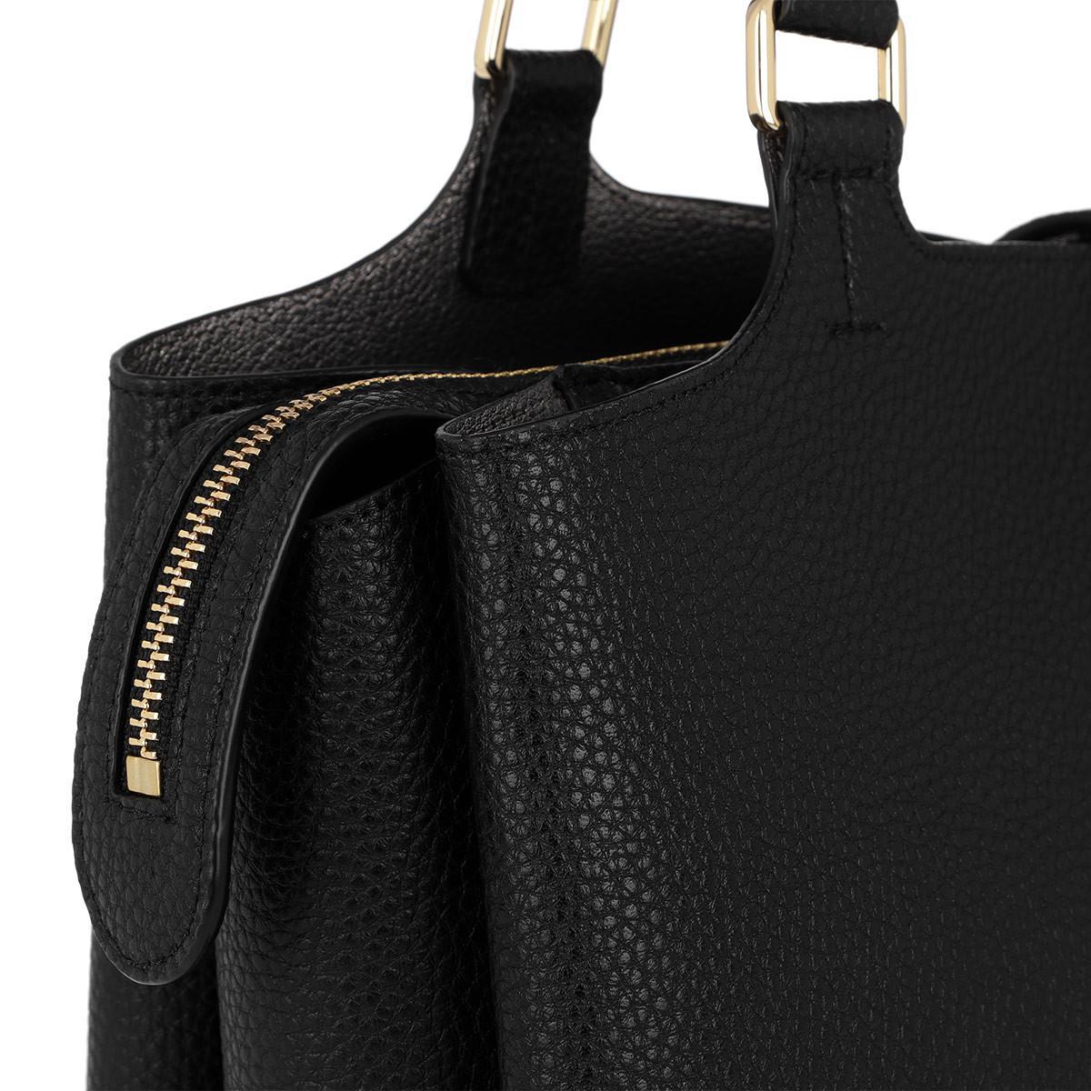 DKNY Leather Paris Large Tote Black
