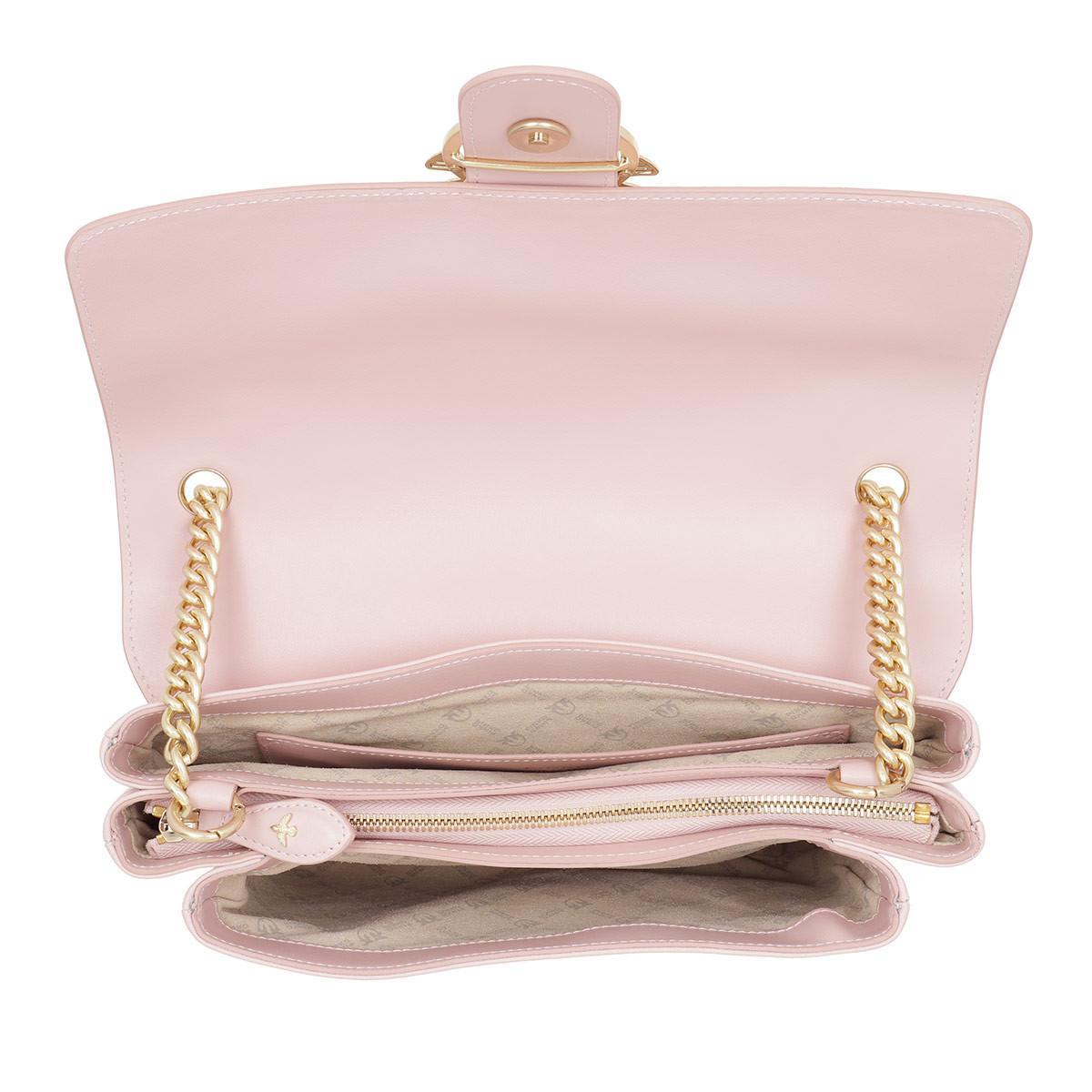 Pinko Leather Big Love Simply Crossbody Bag Rosa Chiaro in Rose (Pink)
