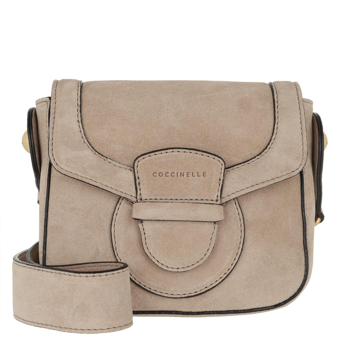 Coccinelle - Natural Vega Suede Crossbody Bag Taupe - Lyst. View fullscreen 184439437ff96