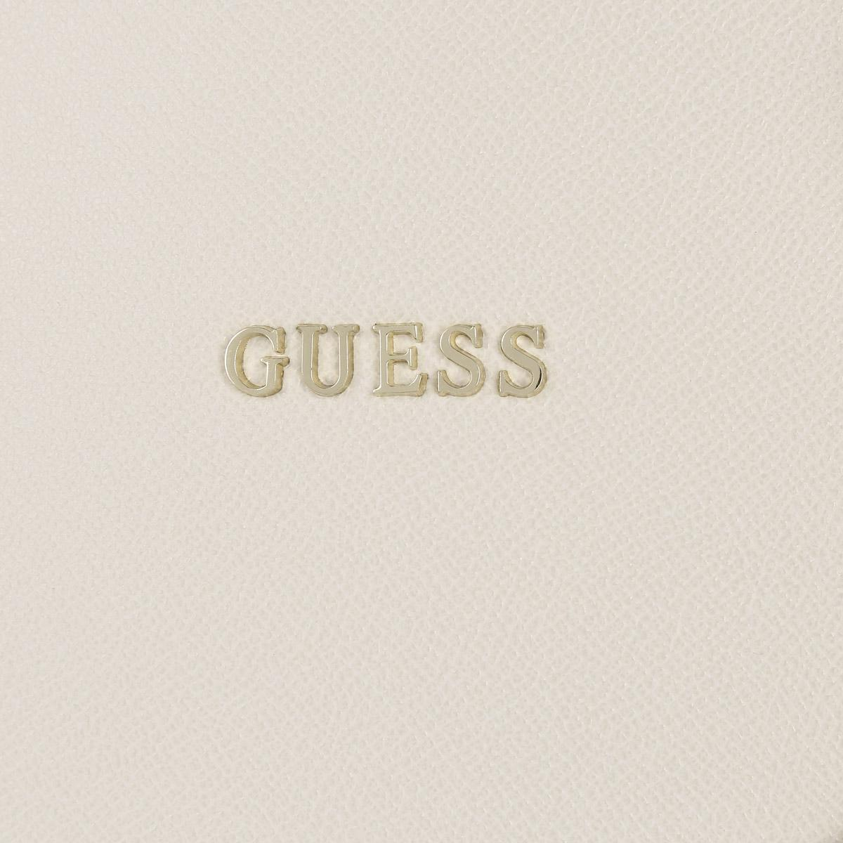 Guess Leather Isabeau Tote Bag Off White