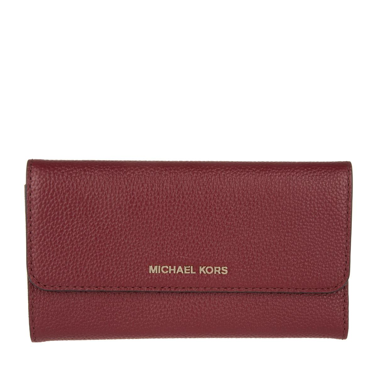 a1b8f3576c5ba8 MICHAEL Michael Kors Mercer Lg Trifold Wallet Leather Cherry in Red ...