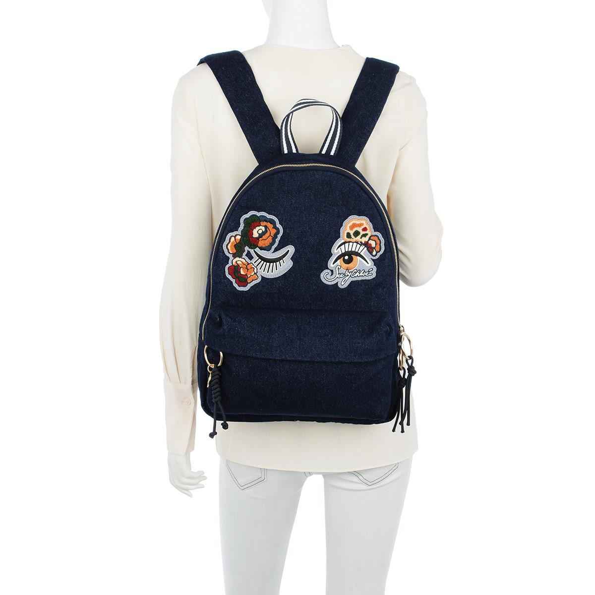 See By Chloé Backpack Andy Denim in Blue