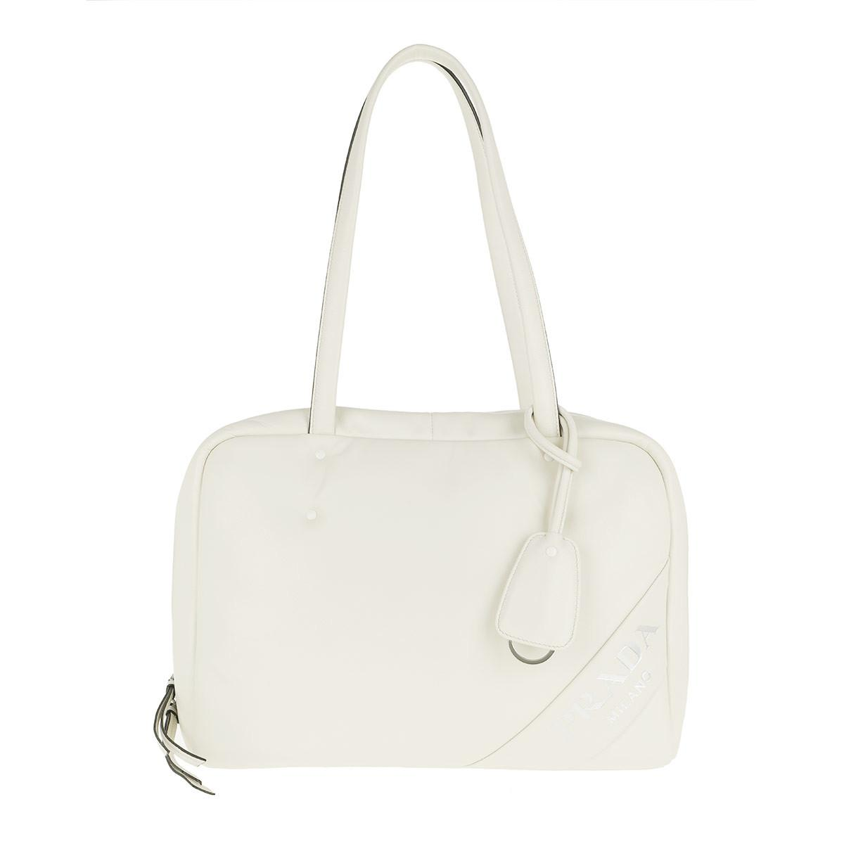 a7d30b5e81e8 Prada Padded Tote Bag Medium White in White - Lyst