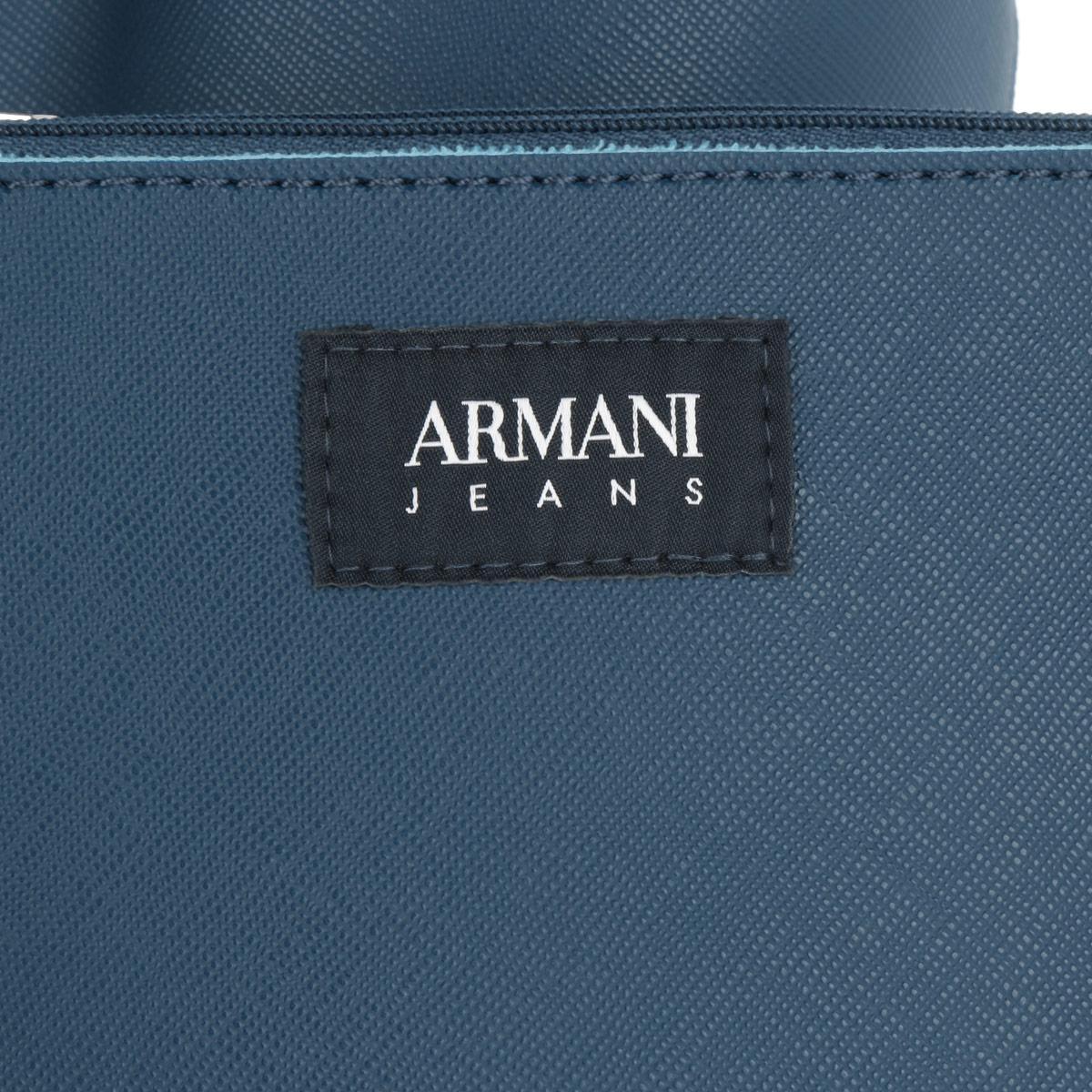 4c42a83de1b Armani Jeans Eco-saffiano Leather Shopping Bag Ocean Blue in Blue - Lyst