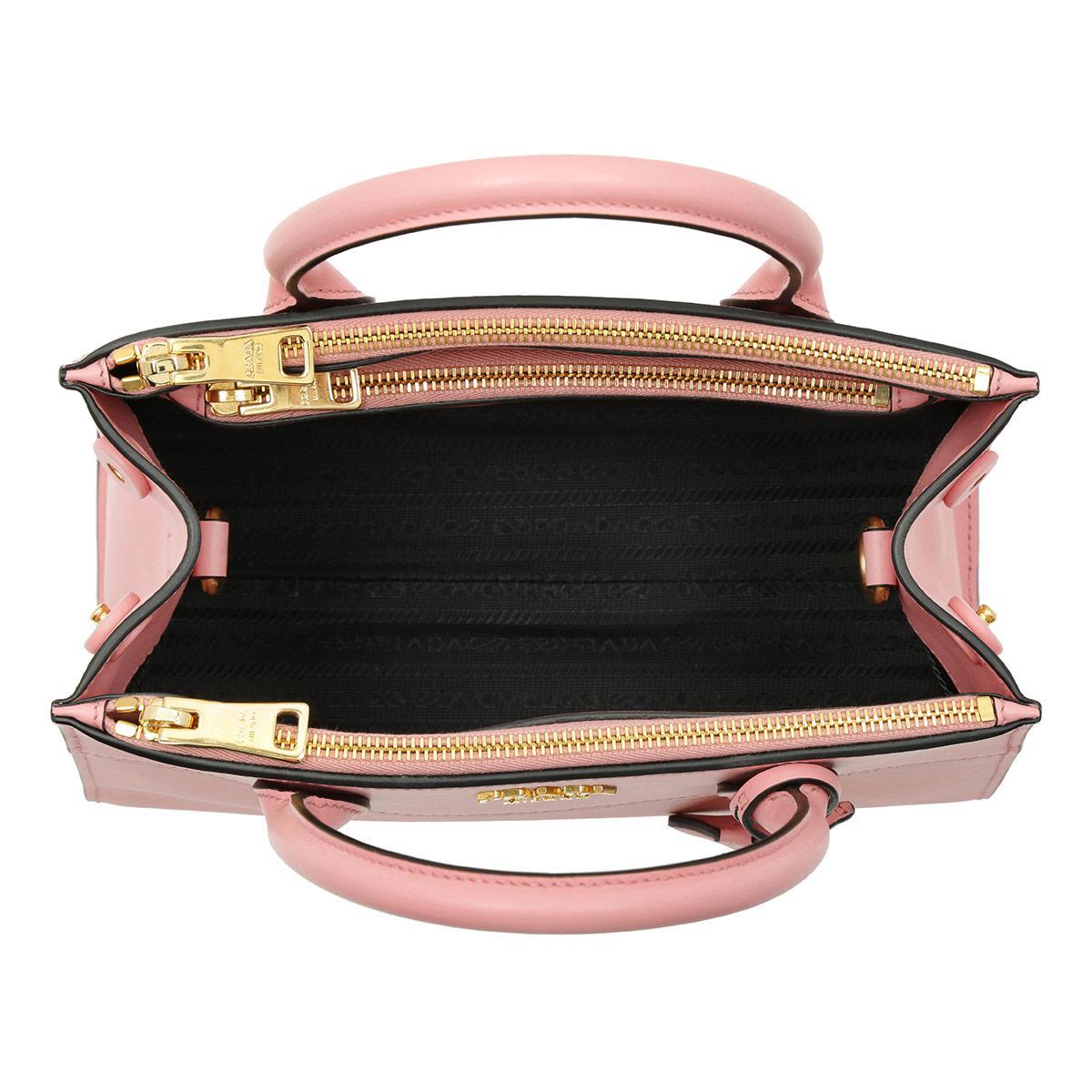 Prada Leather Saffiano City Tote Petalo in Pink